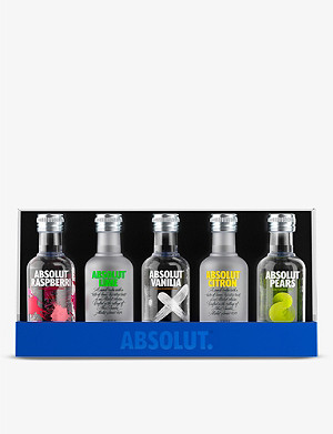 ABSOLUT Flavoured vodka sampler gift set 5 x 50ml