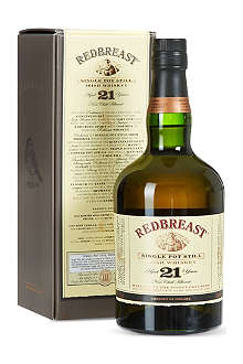 REDBREAST 21 year old single pot still whiskey 700ml