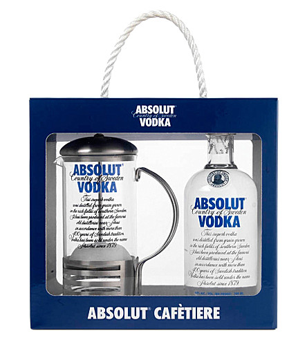 ABSOLUT Absolut cafètiere gift pack 700ml