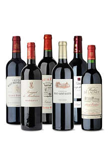 SOMMELIERS SELECTION Bordeaux red wine case 6 x 750ml