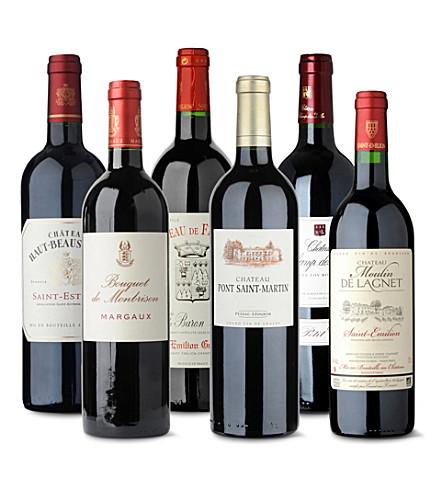 Bordeaux red wine case 6 x 750ml
