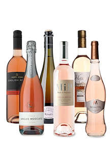 SOMMELIERS SELECTION Pink and Sparkly case of six 750ml bottles