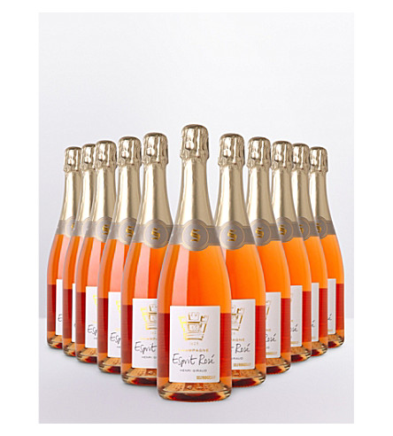 SELFRIDGES SELECTION Esprit Rose NV Champagne case 12 x 750ml