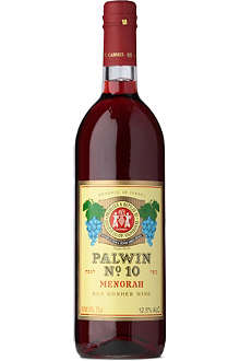 PALWIN NO.10 Menorah red kosher wine 750ml