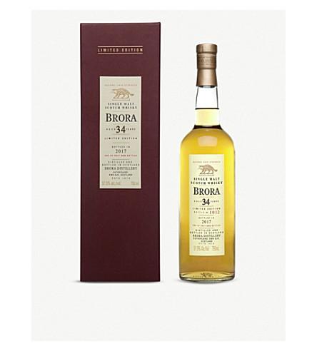 WHISKY AND BOURBON Brora 34 year-old single-malt scotch whisky 700ml