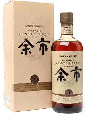 NIKKA Yoichi 20 year old single malt whisky 700ml