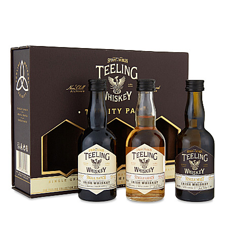TEELING Trinity Pack Irish whiskies 150ml