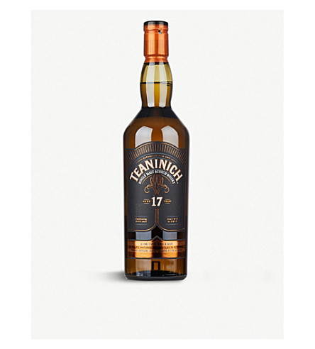 WHISKY AND BOURBON Teaninich 17 year-old single-malt scotch whisky 700ml