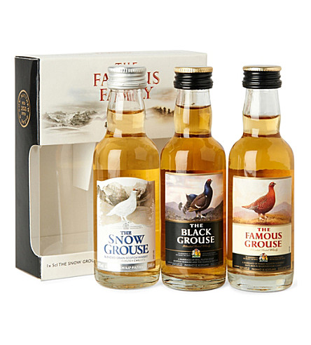 The Famous Grouse Family blended whisky gift set 3 x 50ml