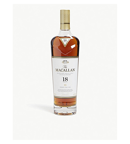 MACALLAN 18 year old single malt Scotch whisky 700ml