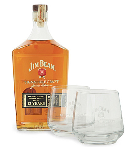 JIM BEAM Signature craft gift pack 700ml