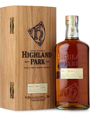 HIGHLAND PARK 30 year old single malt Scotch whisky 700ml