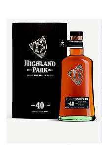 HIGHLAND PARK 40 year old single malt Scotch whisky 700ml