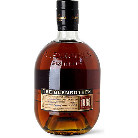 GLENROTHES 1988 single male Scotch whisky 700ml