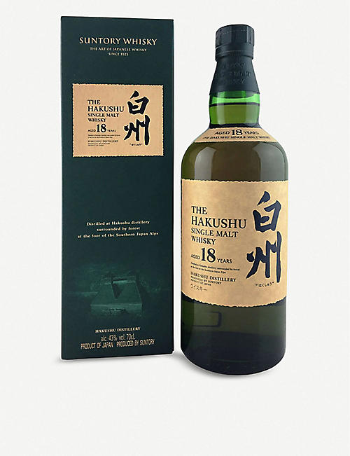 SUNTORY Hakushu 18-year-old single malt Japanese whisky 700ml