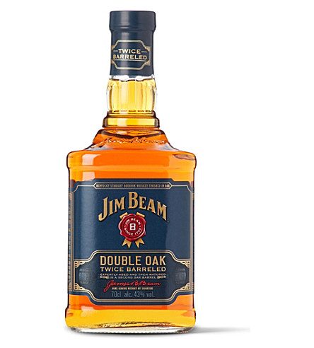 WHISKY AND BOURBON Jim Beam Double Oak Twice Barreled whisky 700ml