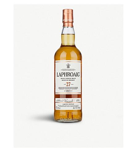 WHISKY AND BOURBON Laphroaig 27 year-old single malt Scotch whisky 700ml