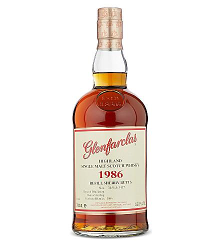 GLENFARCLAS Glenfarclas 1986 Refill Sherry Cask whisky 700ml