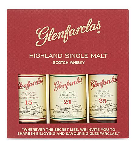 GLENFARCLAS Highland single malt Scotch whisky box 3x50ml