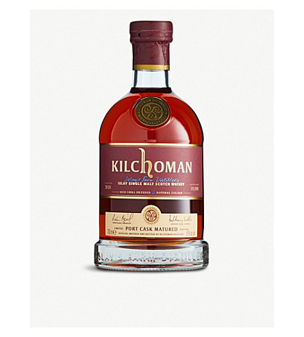 WHISKY AND BOURBON Kilchoman Port Cask 2018 single malt Scotch whisky 700ml