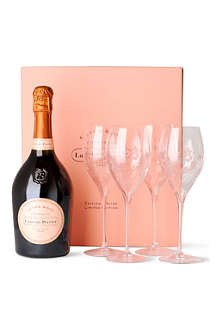 LAURENT PERRIER Rosé NV gift set with four glasses 750ml