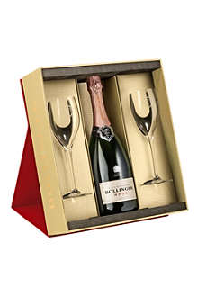 BOLLINGER Rosé pair of glasses gift set 750ml