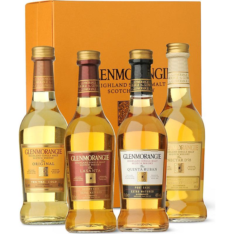 Glenmorangie Highland single malt Scotch whisky gift box 4 x 100ml