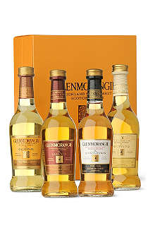 GLENMORANGIE Highland single malt Scotch whisky gift box 4 x 100ml