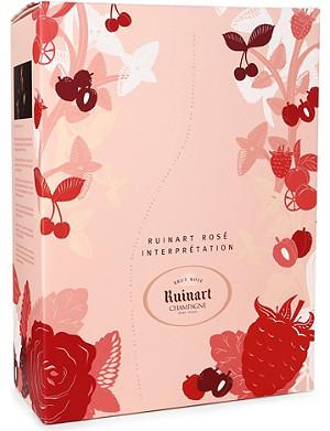 RUINART Brut Rosé Interpretation gift set 750ml