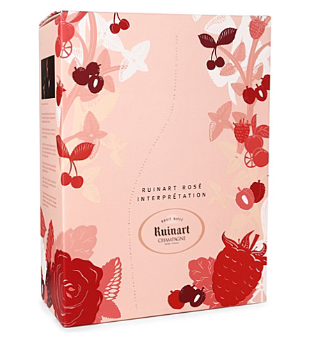 RUINART Brut Rosé Interpretation gift set 750ml