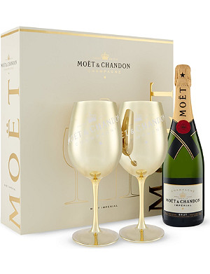 MOET ET CHANDON Golden goblet gift set