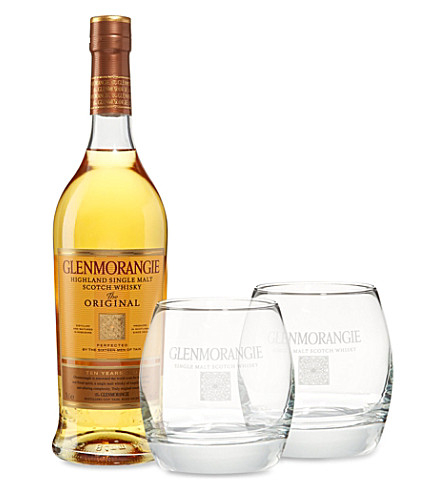 GLENMORANGIE 10 Year Old whisky glass set 700ml