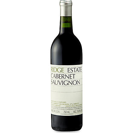 RIDGE ESTATE Cabernet Sauvingnon 2010