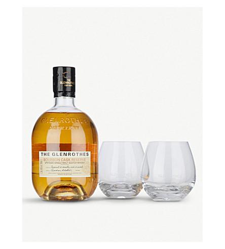 WHISKY AND BOURBON Glenrothes Bourbon Cask gift set 700ml