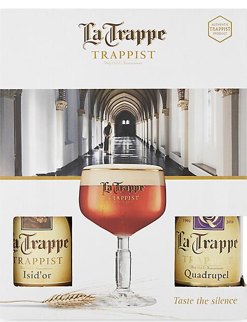 WORLD OTHER La 特雷普 Trappist 四啤酒和玻璃礼品包 4 x 330毫升