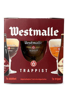 WESTMALLE Two bottles and glass gift pack 2 x 330ml