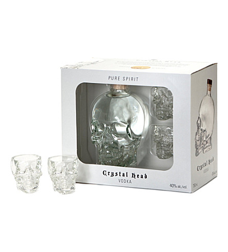CRYSTAL HEAD VODKA Two glass pack 700ml