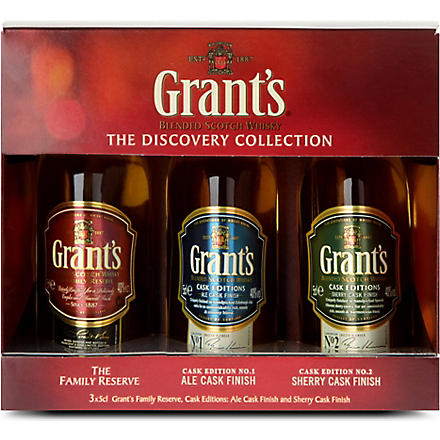 GRANT'S The Discovery Collection blended Scotch whisky set 3 x 50ml