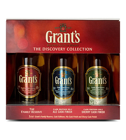 BLENDED WHISKY The Discovery Collection blended Scotch whisky set 3 x 50ml