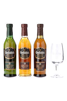 Explorer's Collection unique single malt Scotch whisky and glass set 3 x 200ml