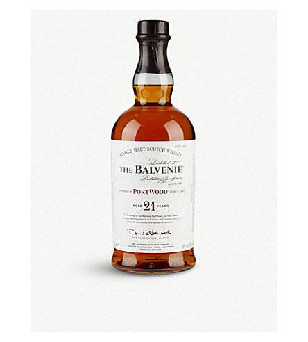 BALVENIE 21 year old Portwood whisky 700ml