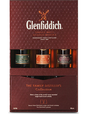 GLENFIDDICH The Family Collection single malt whisky 3x100ml