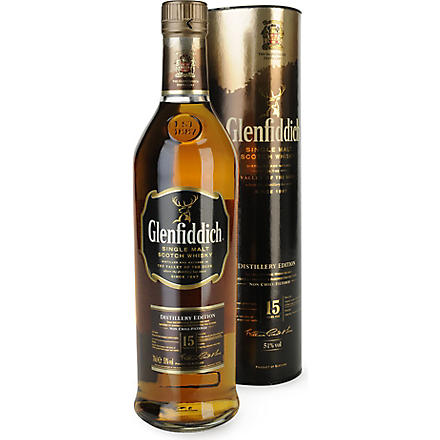 GLENFIDDICH 15 year old single malt Scotch Distillery Edition 700ml