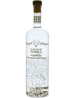 ROYAL DRAGON Imperial gold-leaf vodka 700ml