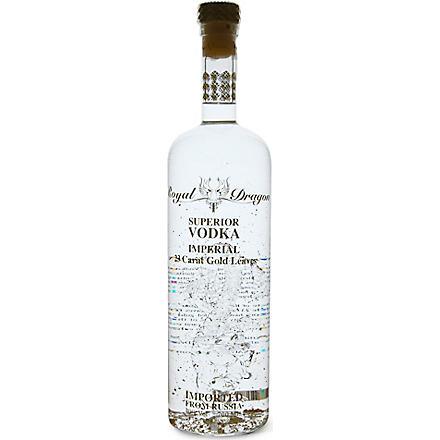 ROYAL DRAGON Imperial gold-leaf vodka 700ml
