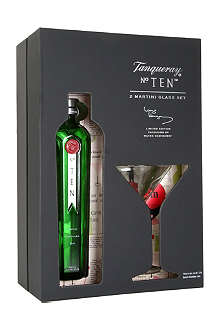 TANQUERAY No. Ten gin martini glass pack 700ml