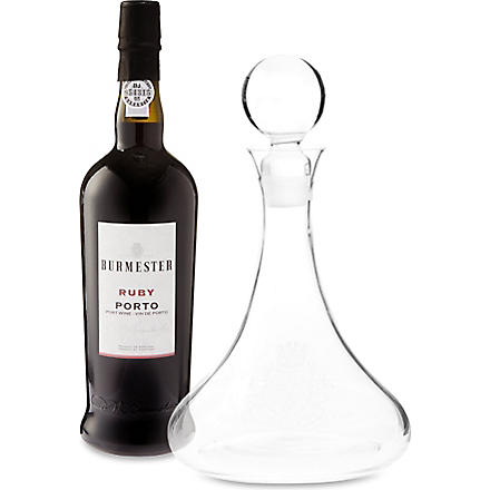 BURMESTER Ruby Port decanter set 750ml