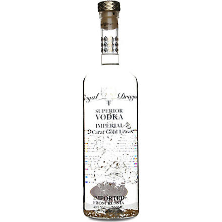 ROYAL DRAGON Imperial 23-carat gold leaf vodka 1500ml