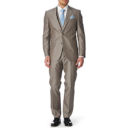 HUGO BOSS Huge Genius WE three-piece suit (Beige