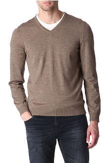 HUGO BOSS V-neck wool jumper